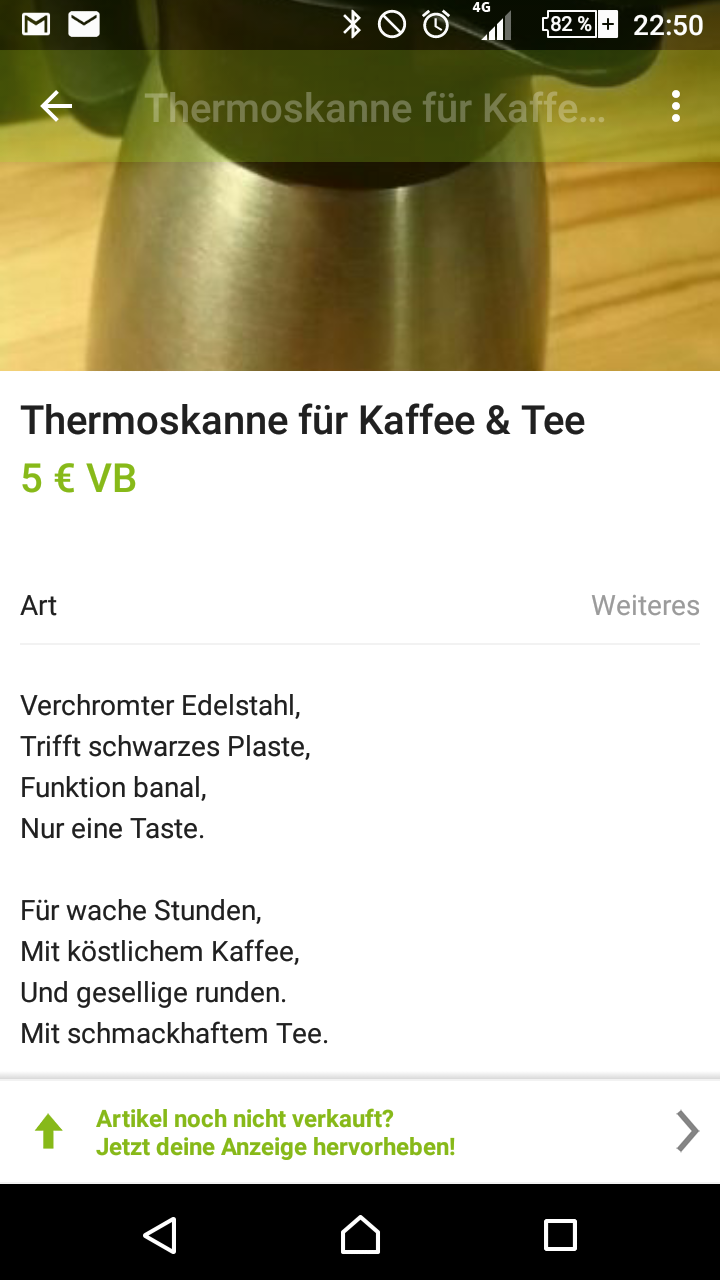 Thermoskanne